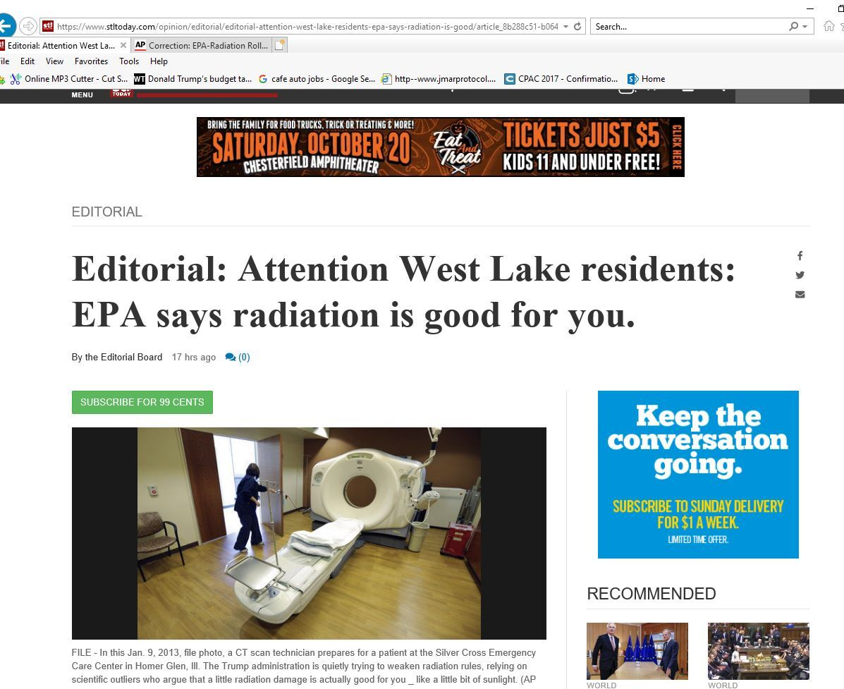 Media replays fake news hit on EPA even after AP correction