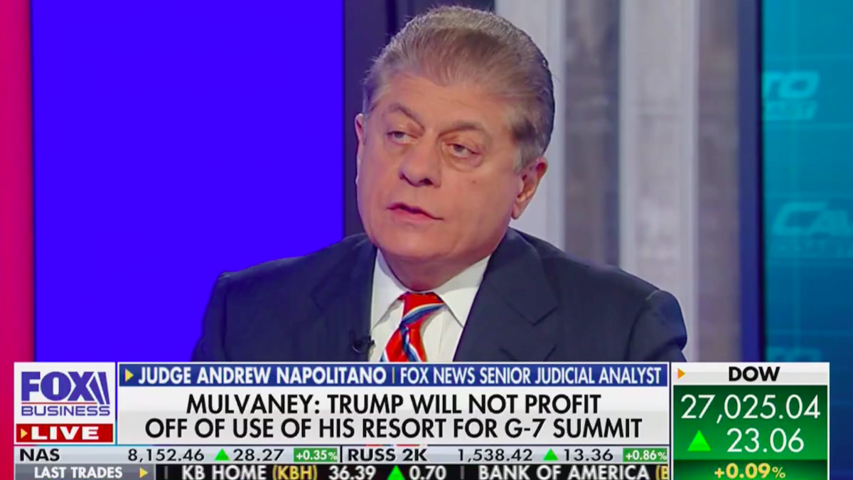 Fox legal analyst: Hosting G-7 at Trump property is a 'profound' violation 'of the Emoluments Clause'