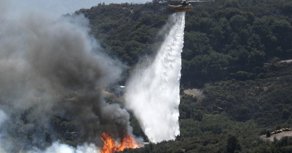 Raging wildfire threatens Ronald Reagan's Santa Barbara ranch