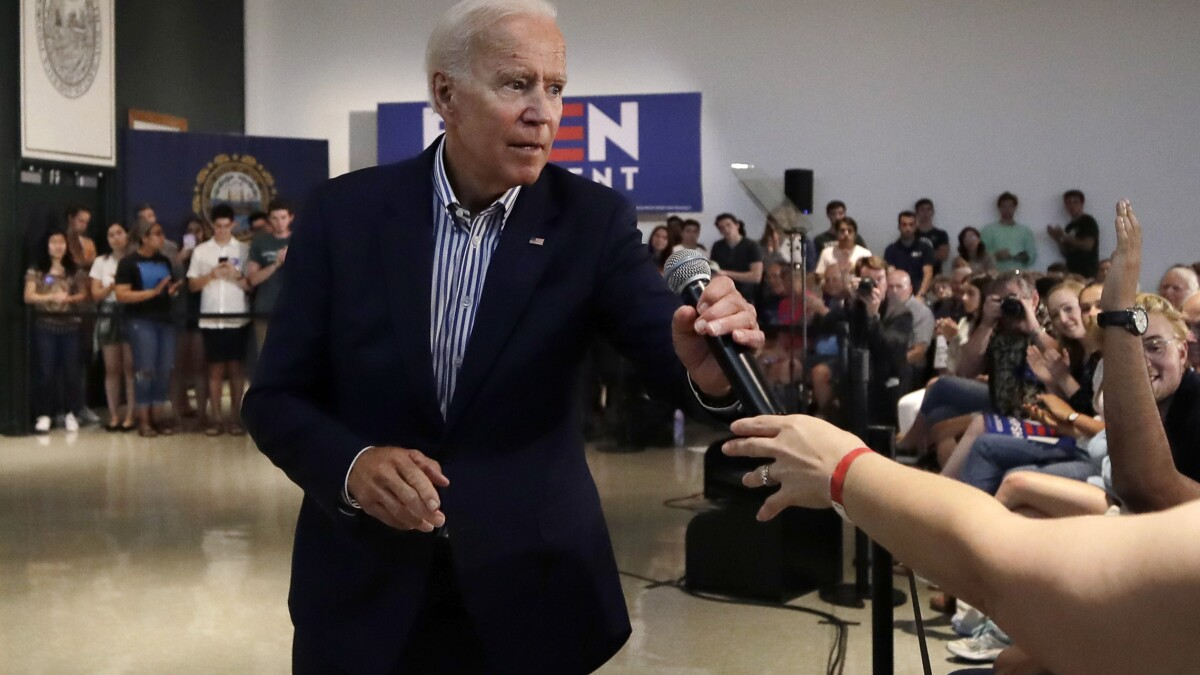 'Erratic ... unhinged': Biden hits back at Trump mental state after being accused of 'not playing with a full deck'