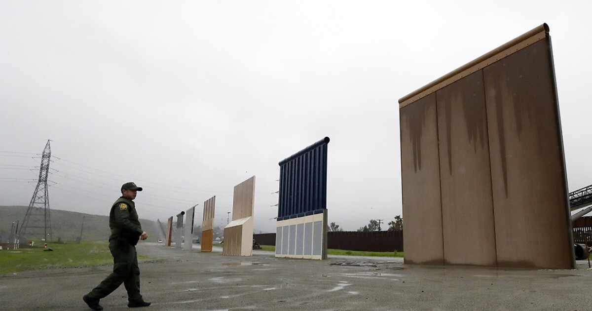 Trump's eight border wall prototypes getting torn down