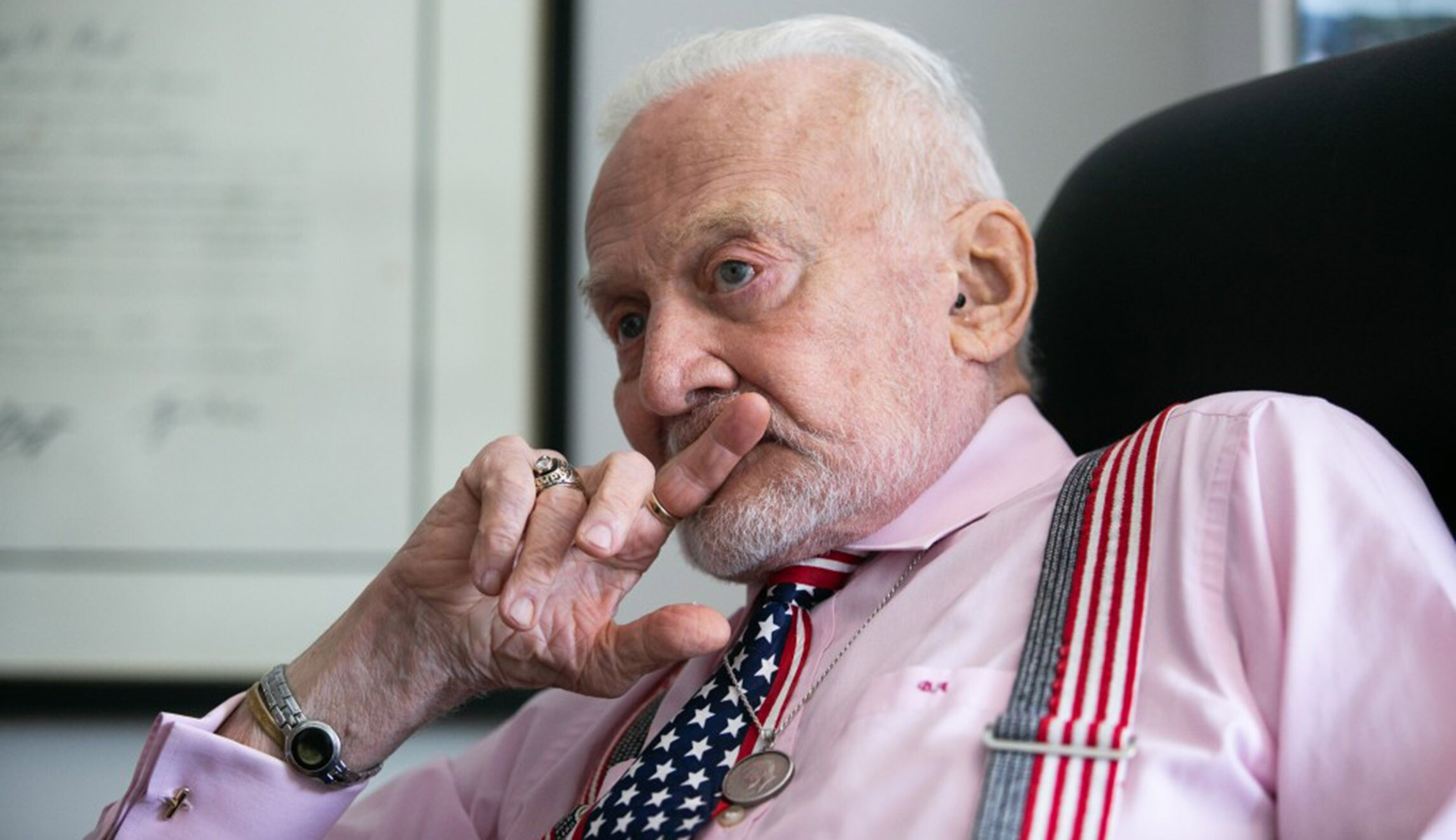 EXCLUSIVE: Buzz Aldrin wants to go back to the moon —as a first step to putting settlers on Mars