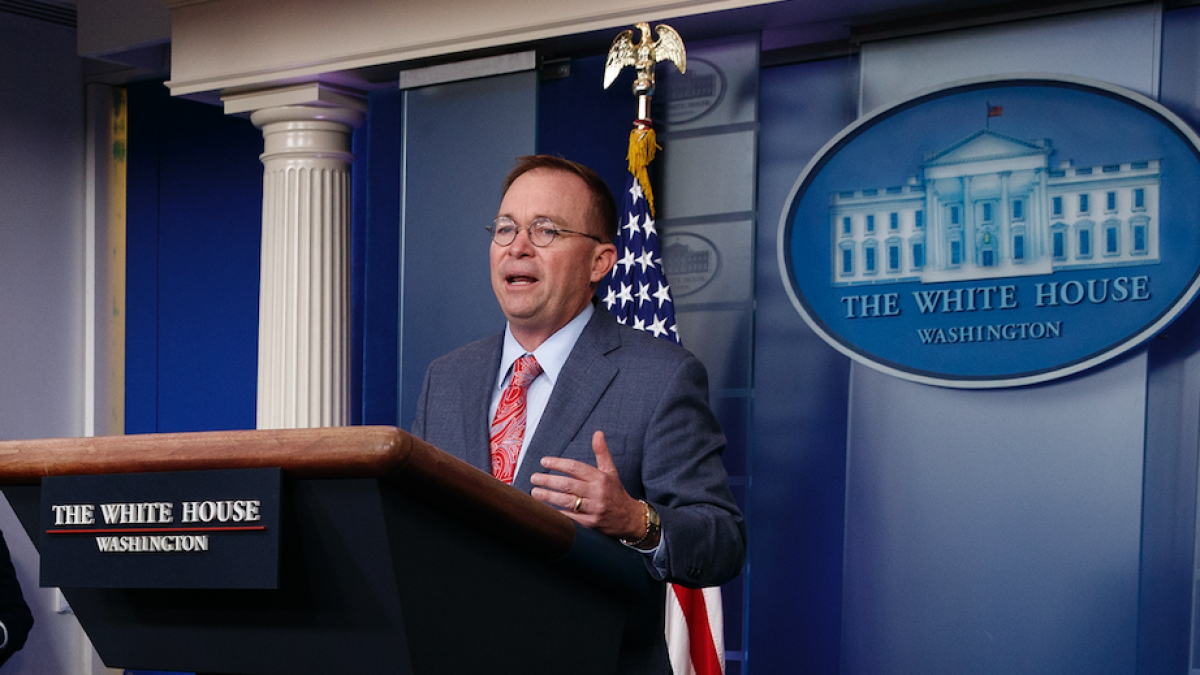 'News to us': DOJ distances itself from Mulvaney claim that Ukraine aid was tied to investigation