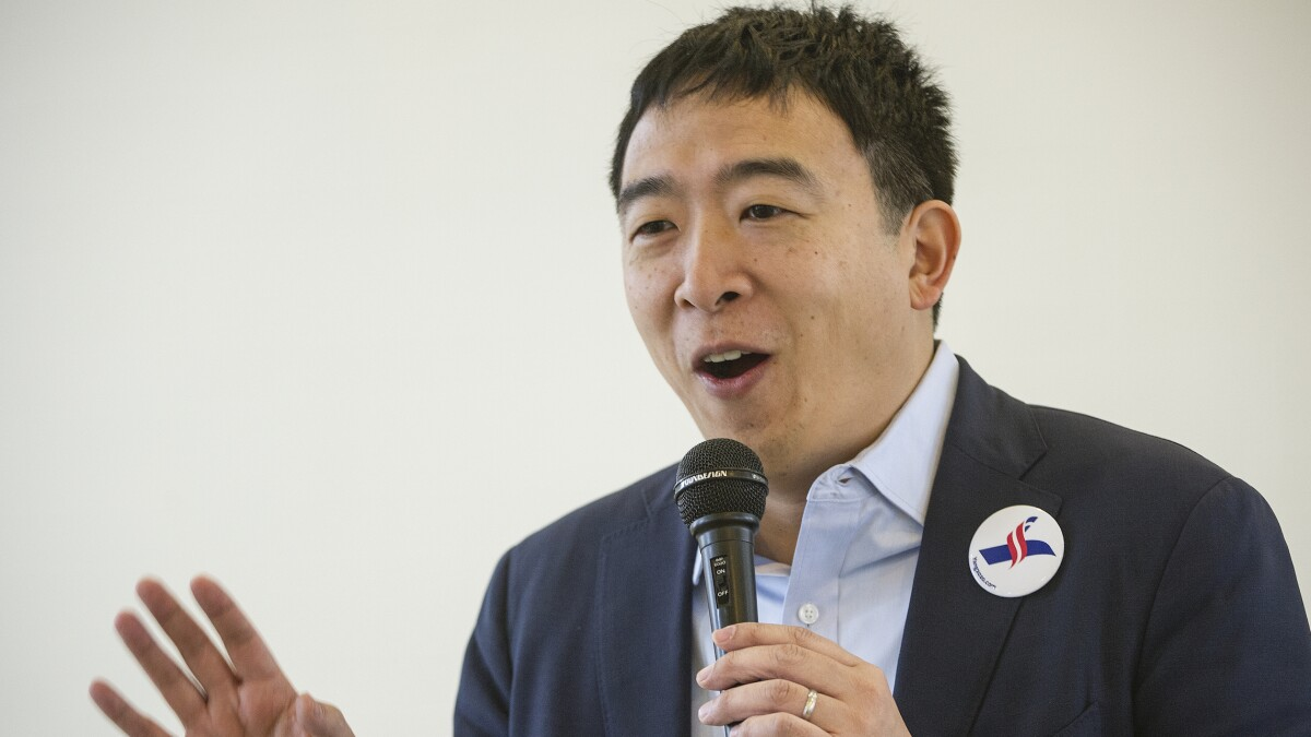 Having outlasted senators and governors Andrew Yang scales up his campaign
