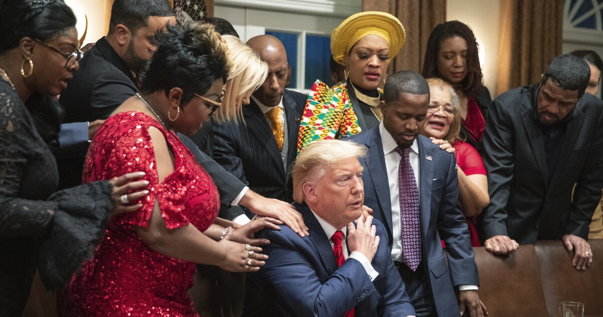 Trump tells black supporters his approval rating among African Americans 'should be at 100%'