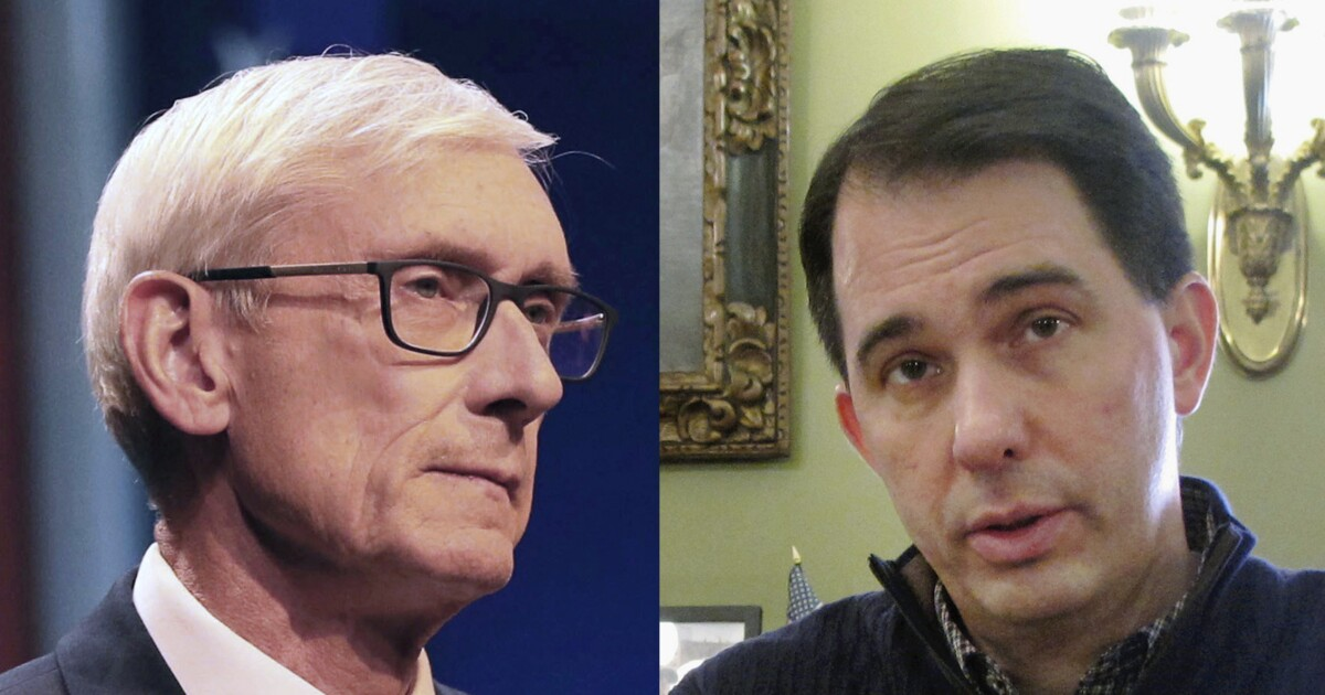 Expecting tough re-election battle, Scott Walker launches 'total blitz' on Tony Evers