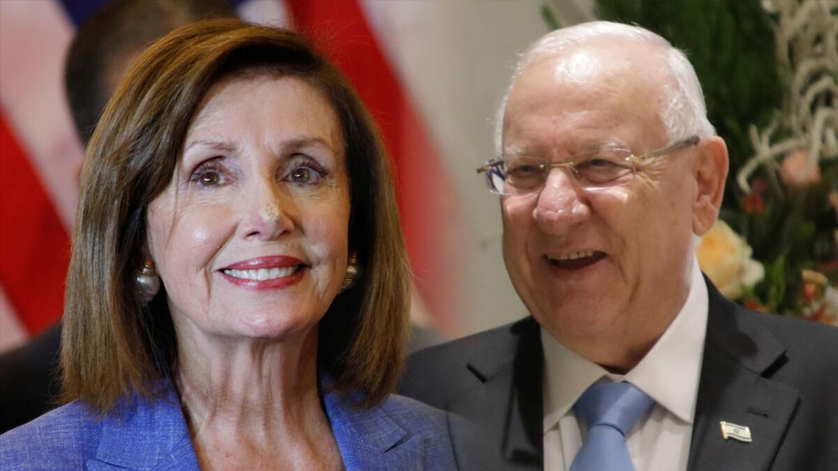 Pelosi and Israeli president affirm ties amid Omar-Tlaib trip fallout