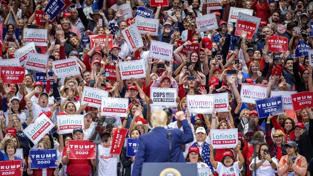 2020: Trump expands base, beating Biden, Sanders, Buttigieg, tied with Warren