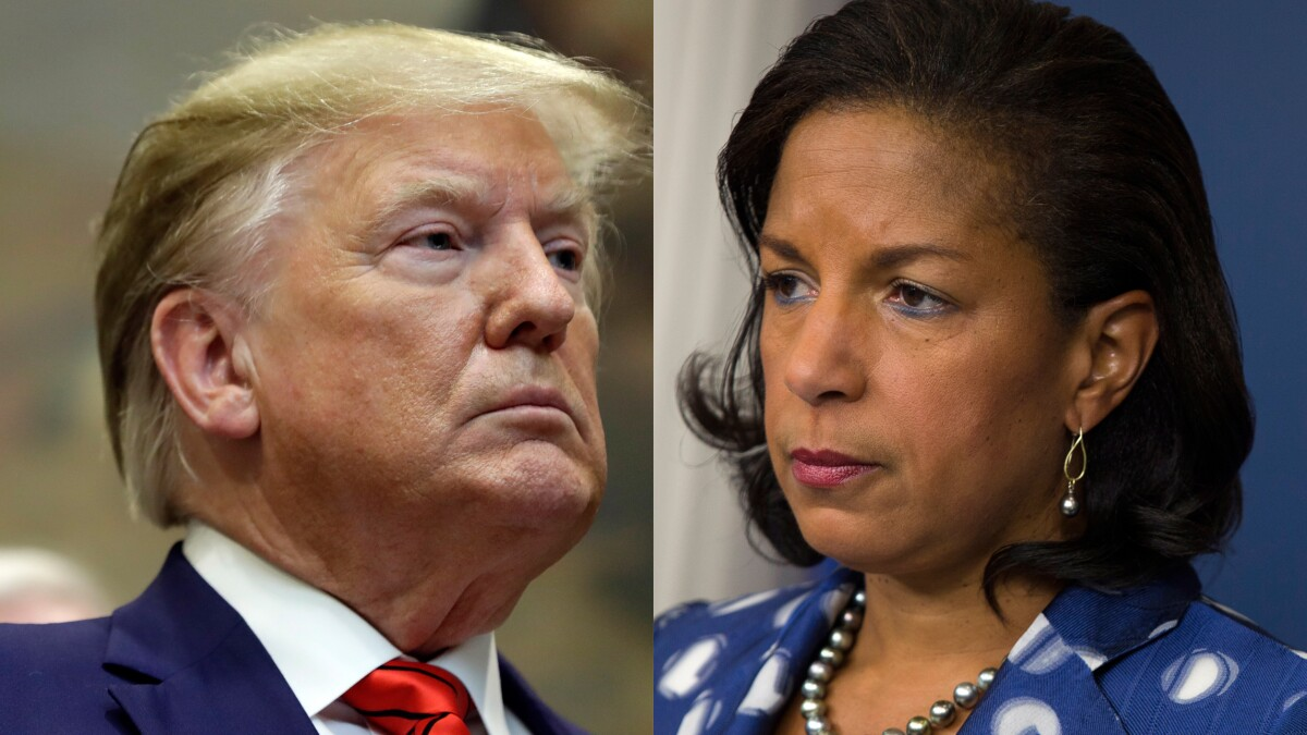 Trump and Susan Rice trade barbs over Syria and 'totally gross' hug
