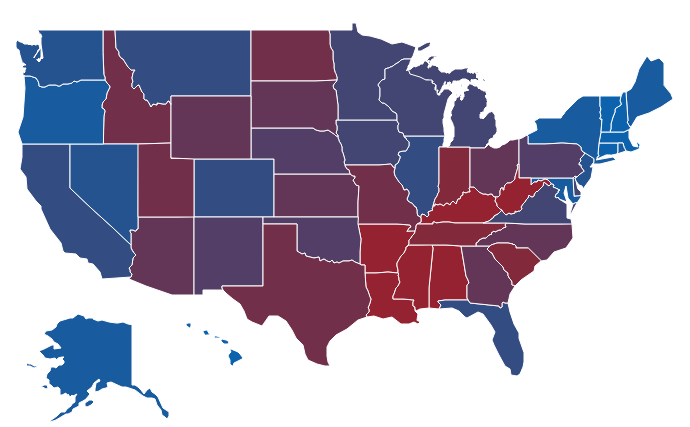 Abortion views in all 50 states: Map