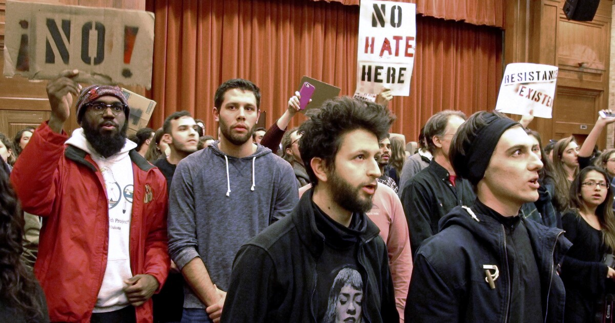 A battle cry for freedom ... on college campuses