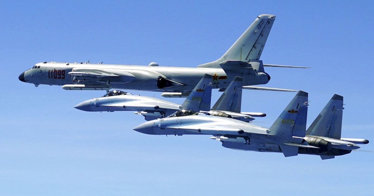 China just conducted a bomber exercise targeting US aircraft carriers