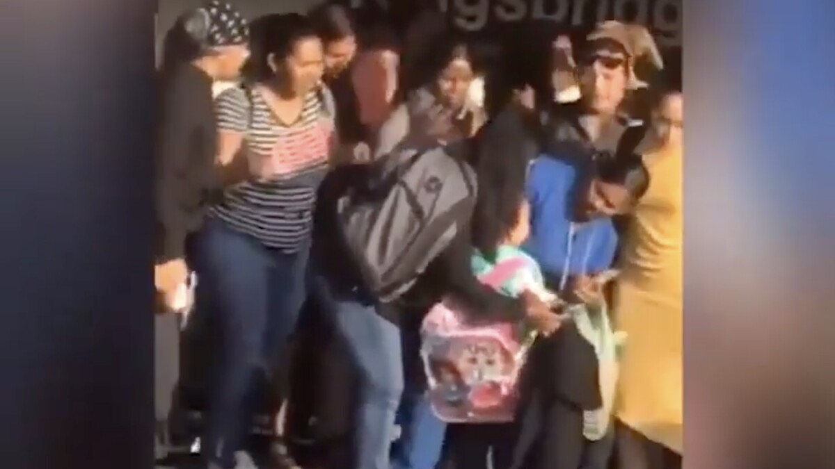 WATCH: Bystanders save little girl after man holding her jumps in front of oncoming train