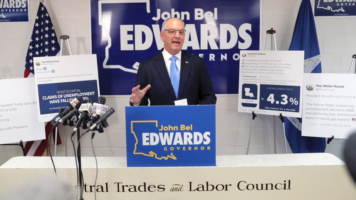 Louisiana Democratic Gov. John Bel Edwards wins reelection in second-straight loss for Trump-allied GOP candidate