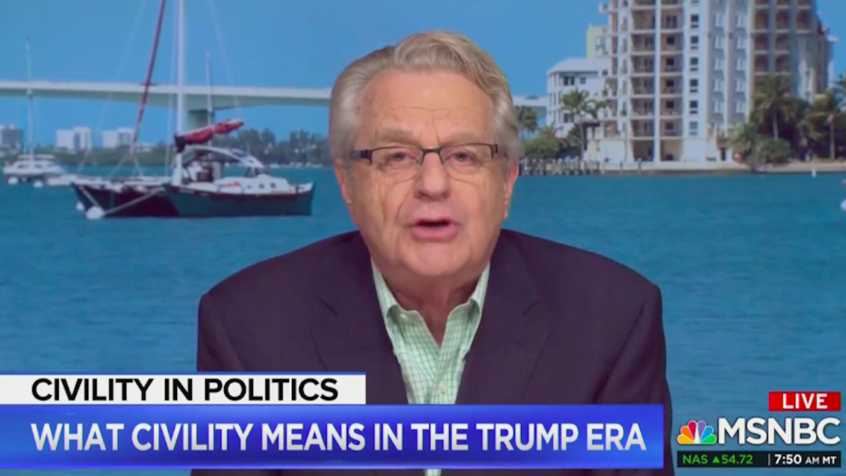 MSNBC's Stephanie Rhule questions Jerry Springer for lamenting lack of civility in America