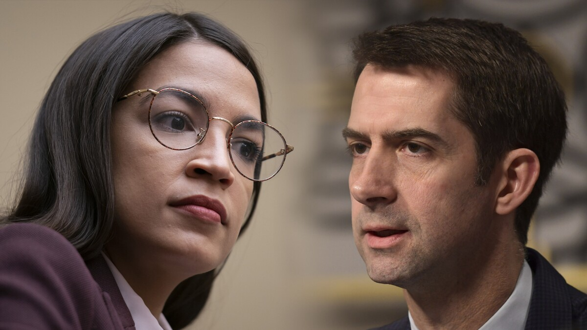 'Not very woke': Tom Cotton rips AOC for blaming Liz Cheney over father's policies