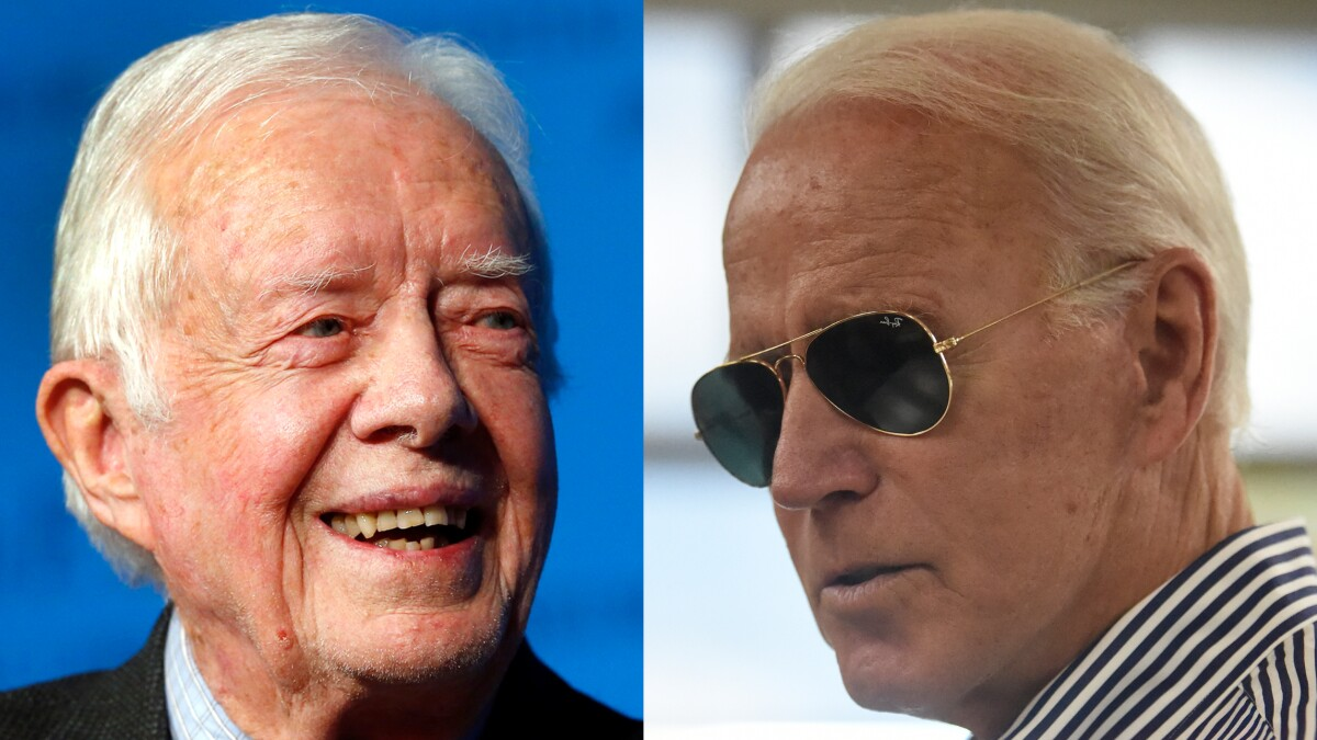 Jimmy Carter says he would have been too old to be president at 80, the age Biden would be in first term