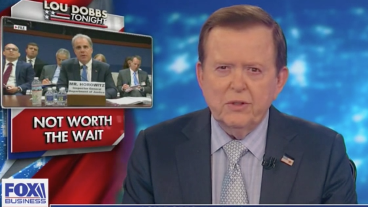 'Deep state's awesome control': Lou Dobbs blasts inspector general report