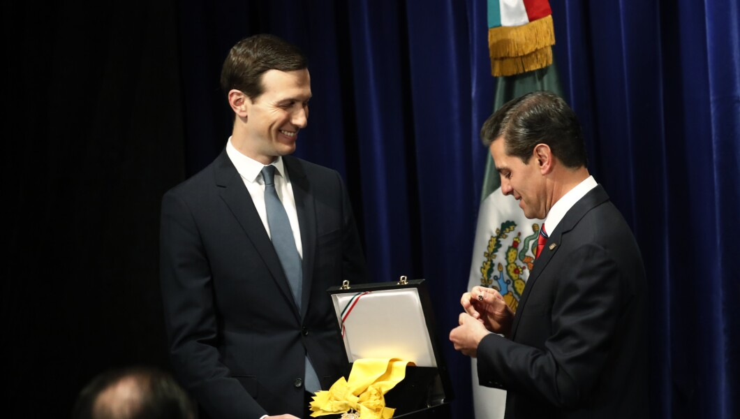 Hasil gambar untuk Jared Kushner receives Mexico's highest honor awarded to non-Mexicans