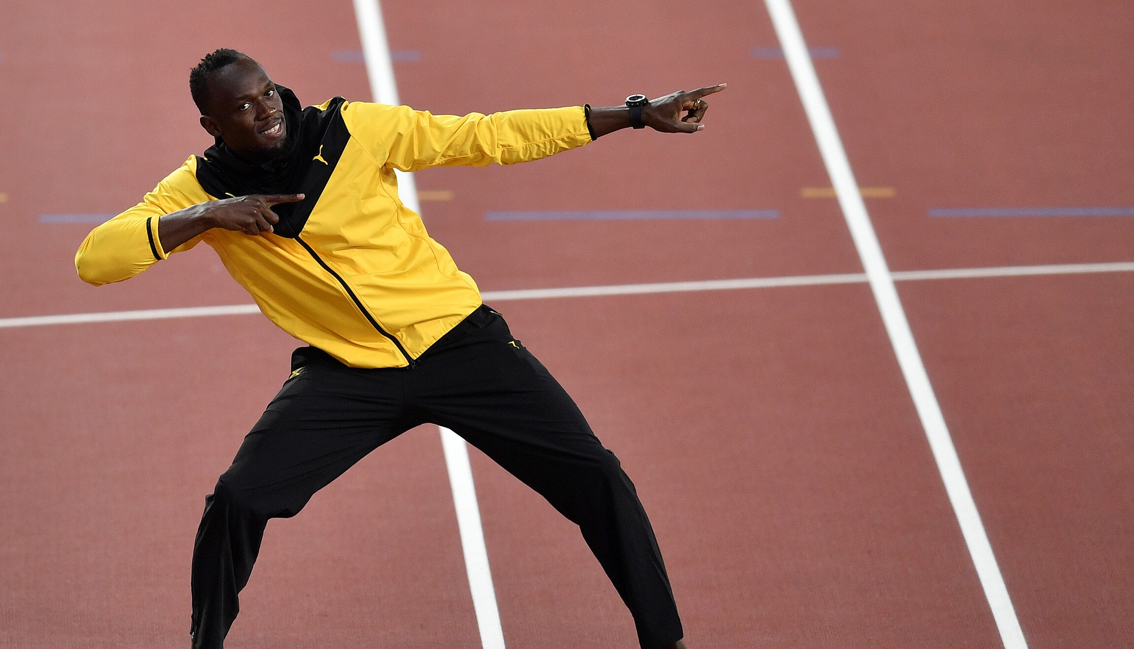 Trump Usain Bolt Showed Respect To The National Anthem