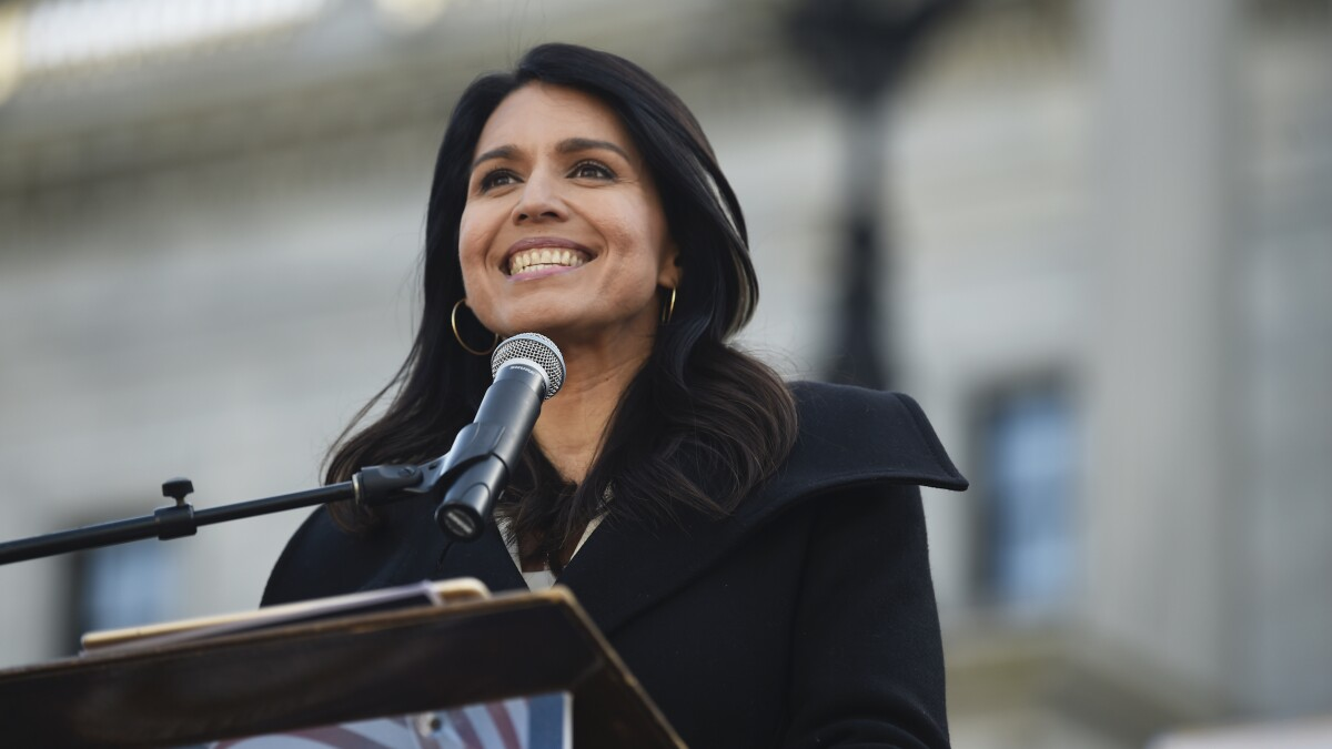 'Present' impeachment vote follows Tulsi Gabbard on campaign trail