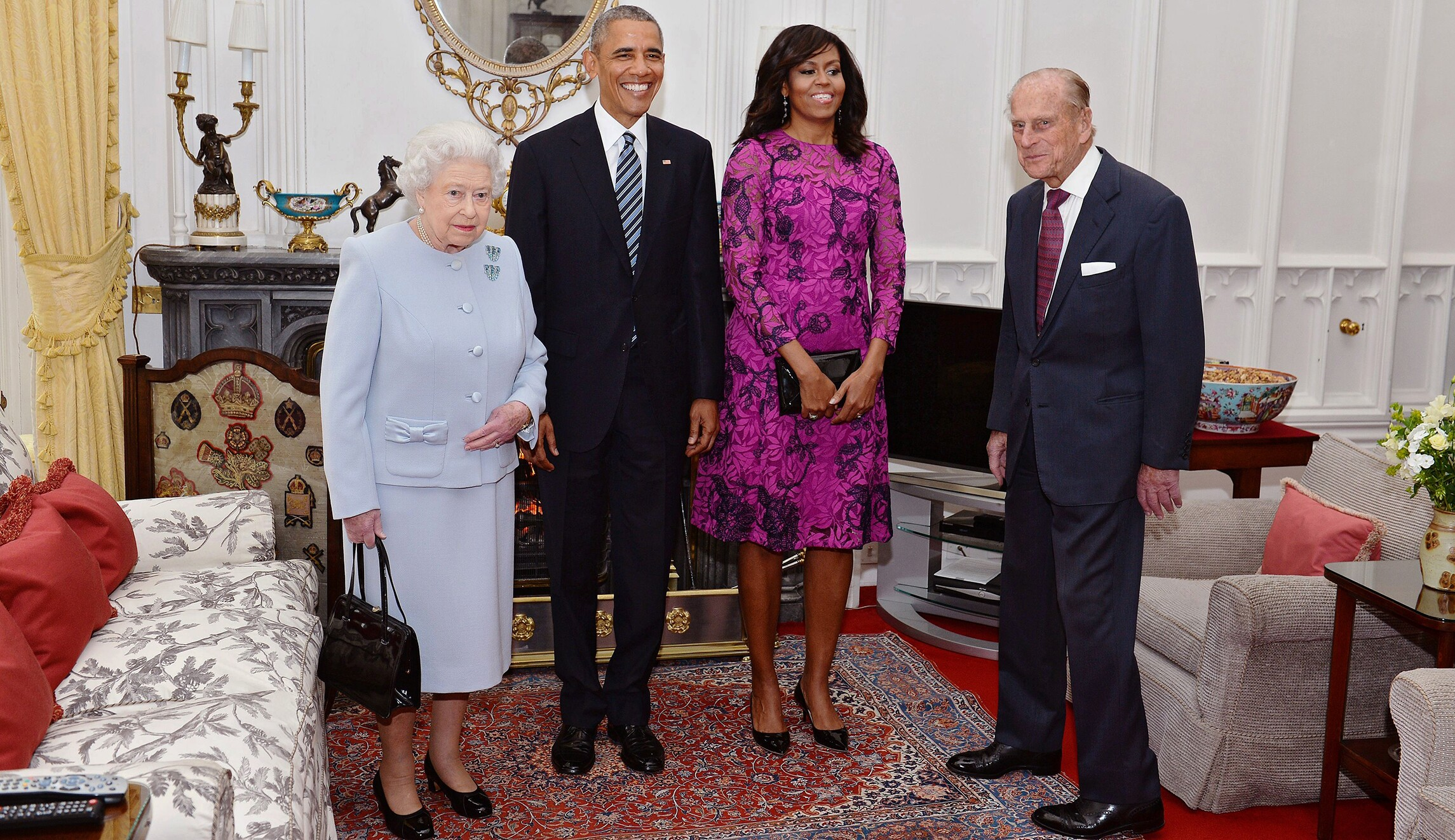 Image result for Michelle Obama Queen Elizabeth