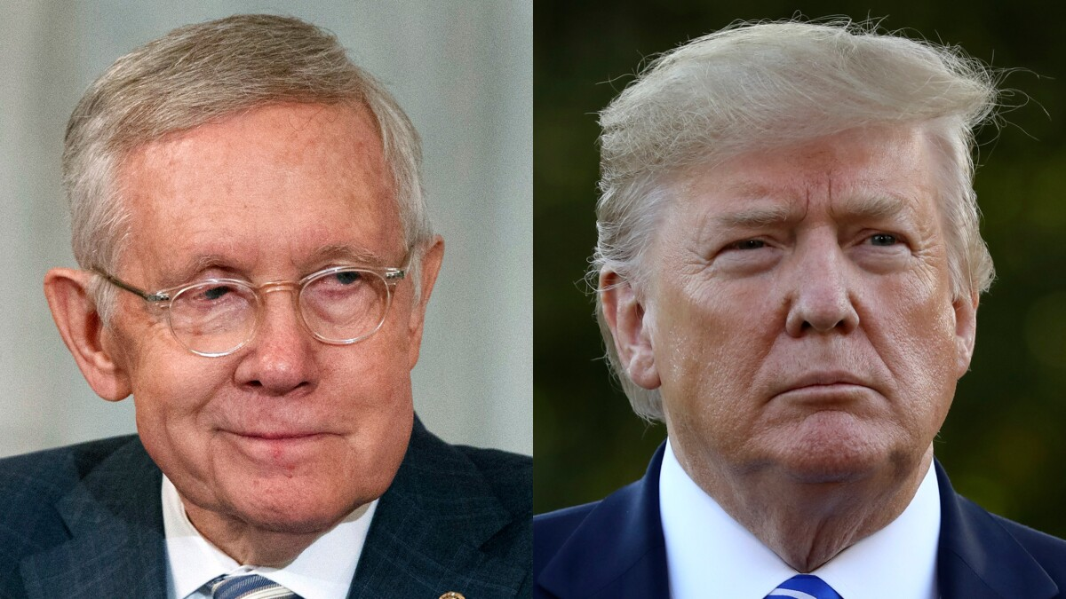 Harry Reid praises Trump as 'a very, very smart man'