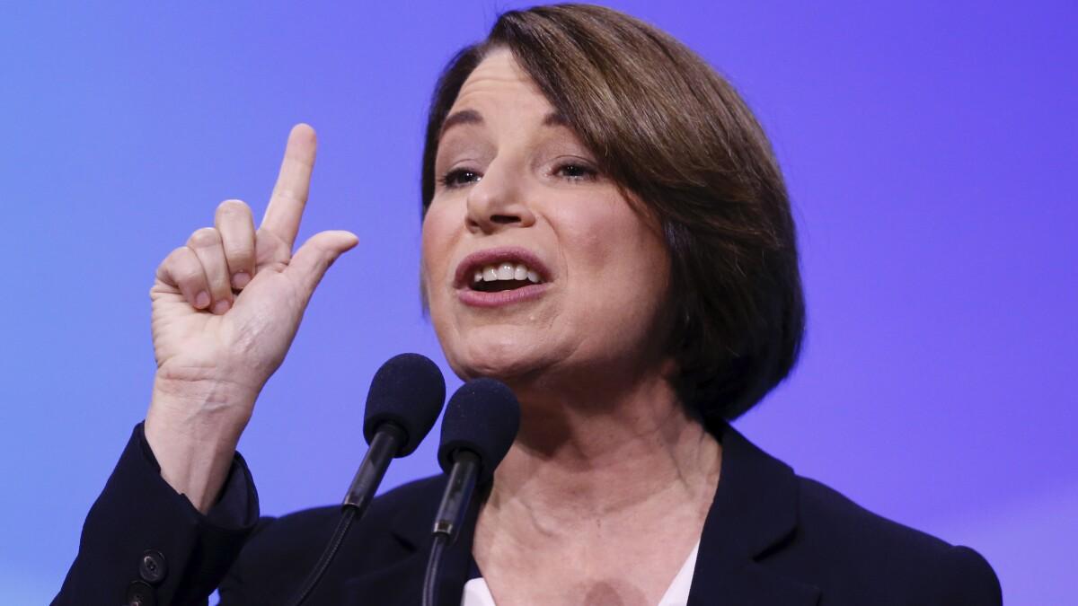 'Houston, we have a problem': Amy Klobuchar opens 2020 Democratic debate
