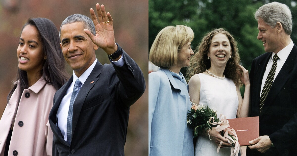 Parents of students at Chelsea Clinton, Obama daughters' high school told to stop offensive conduct