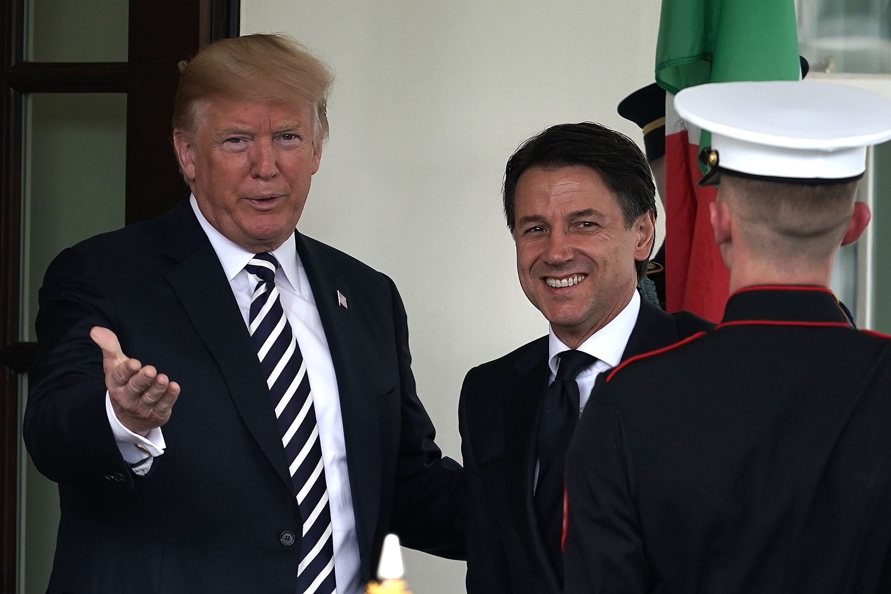Image result for President Trump Praises Italian PM Giuseppe Conte's Stance on Borders and Immigration