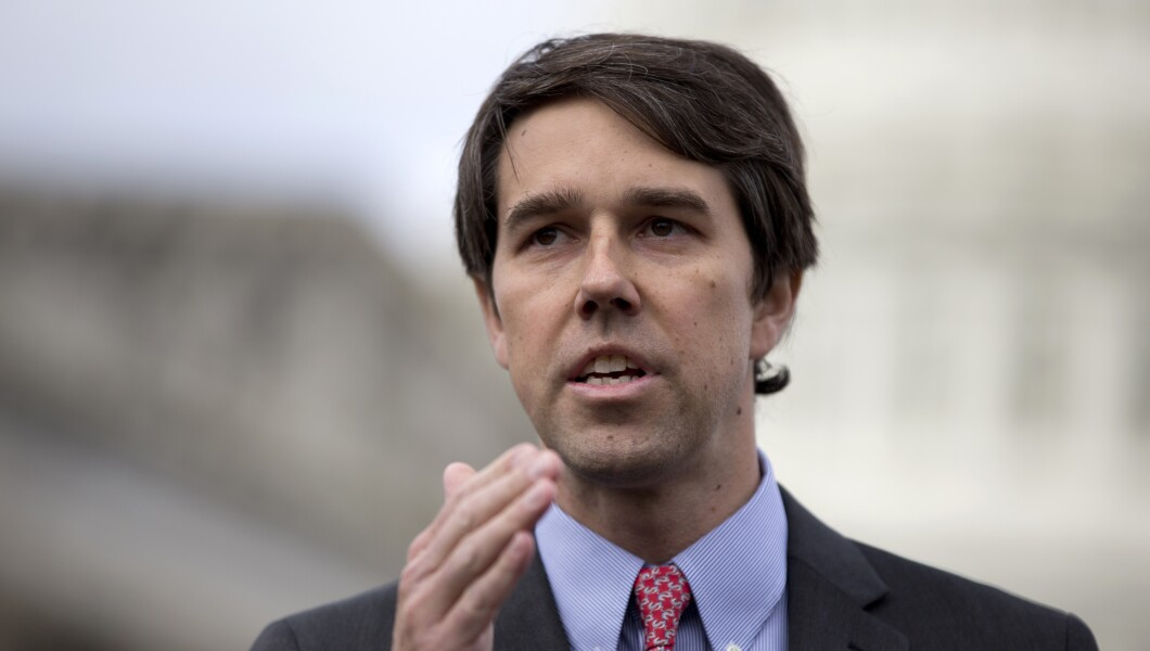 Rep. Beto O'Rourke, a Democratic Congressman from Texas, speaks during a news conference on Capitol Hill in Washington, D.C.