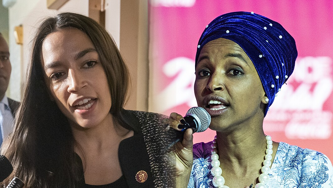 Alexandria Ocasio-Cortez and Ilhan Omar