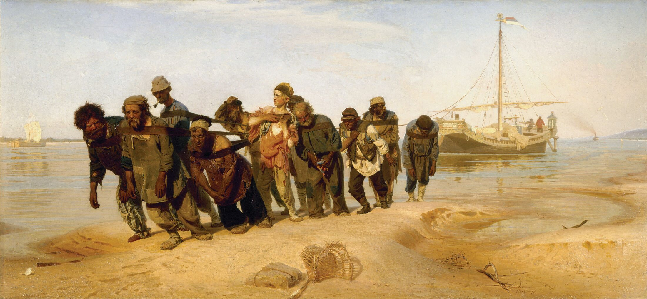 Ilya Repin's painting 'Barge Haulers on the Volga' (1870-73) became for the Russian populists an iconic depiction of the people's suffering.