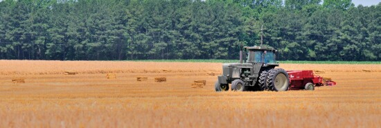 Farming-Baling Hay on Maryland's Eastern Shore