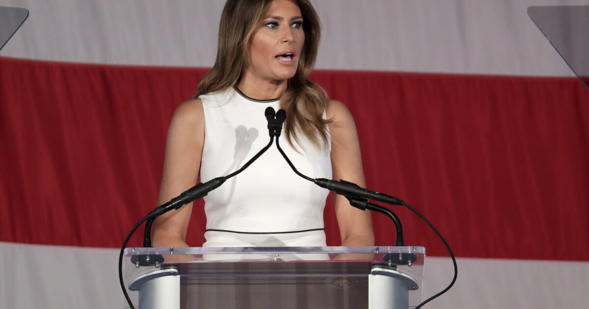 Melania Trump mocked for receiving 2020 'Woman of Distinction' award