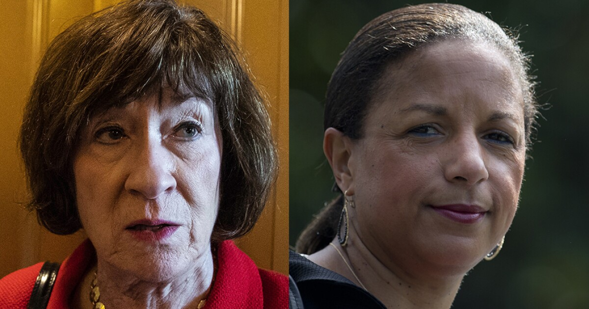 Susan Collins unfazed by possible challenge from Susan Rice