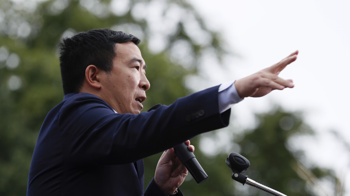 Andrew Yang just uttered the quote of the Trump era
