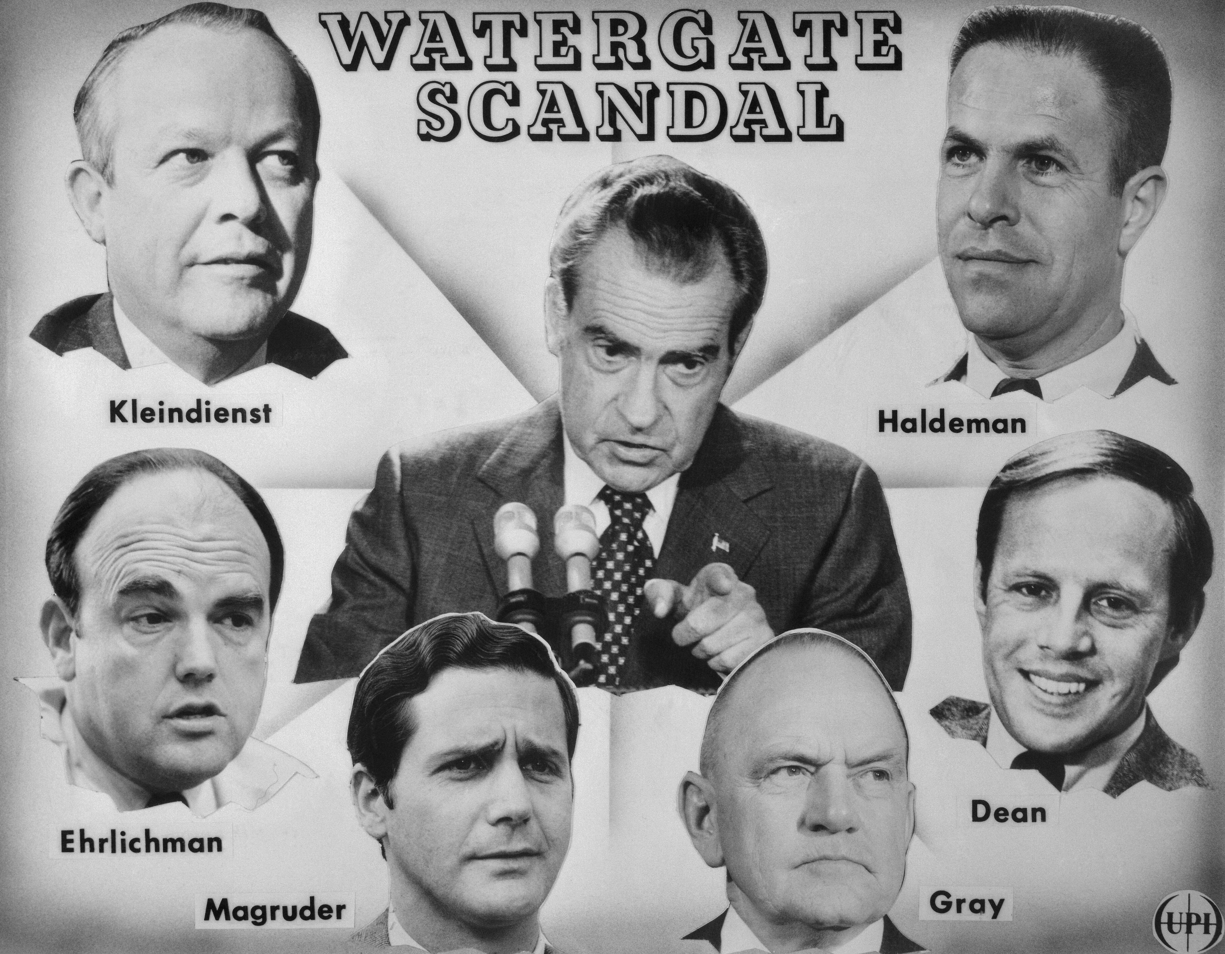 Image result for photos of president nixon during Watergate era
