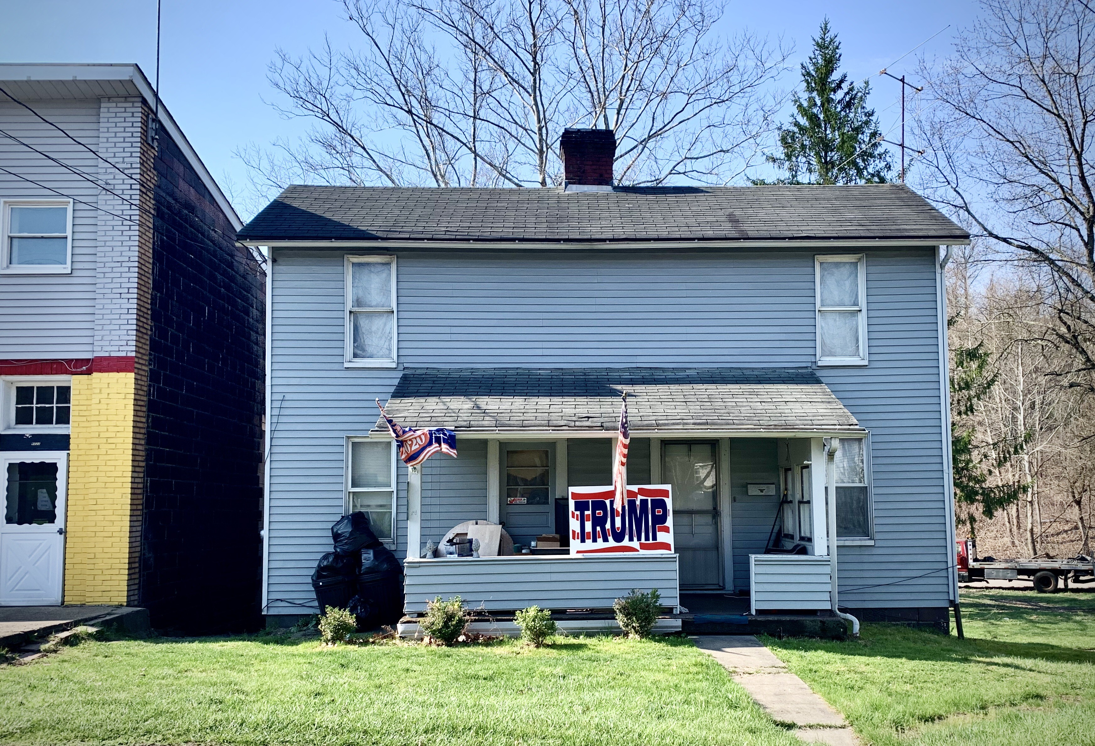 PENNSYLVANIA - From wealthy suburban enclaves to the middle-class post World War II bedroom communities located the first ring outside the city to the gritty blue collar city neighborhoods themselves Trump signs are everywhere across t (2).jpeg