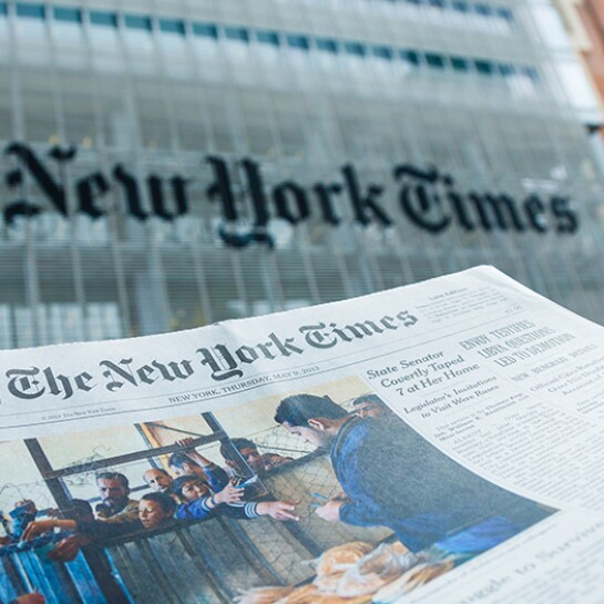The New York Times newspaper and office building