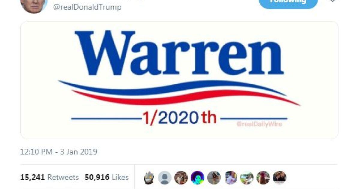 Trump Mocks Warren With 1 2020th Meme