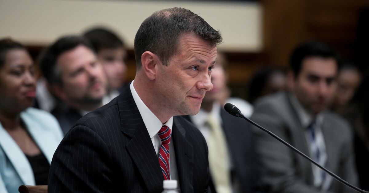 Peter Strzok says he can't recall changing Hillary Clinton exoneration statement on his computer