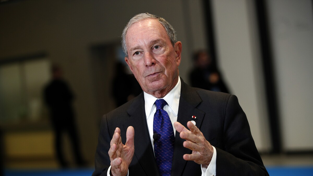 Bloomberg takes dig at Warren for anti-corporate rhetoric