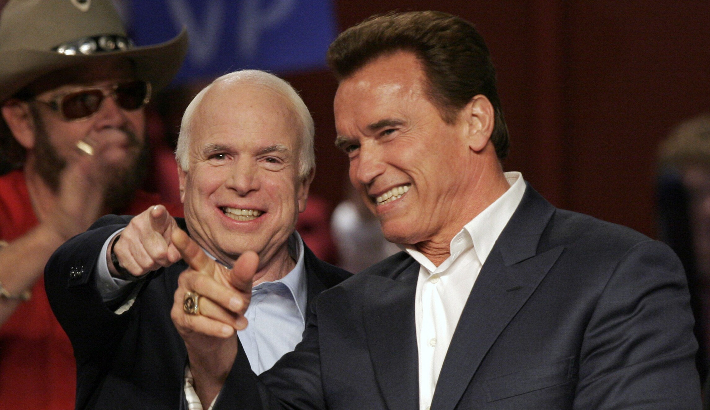 Image result for Arnold and Mccain