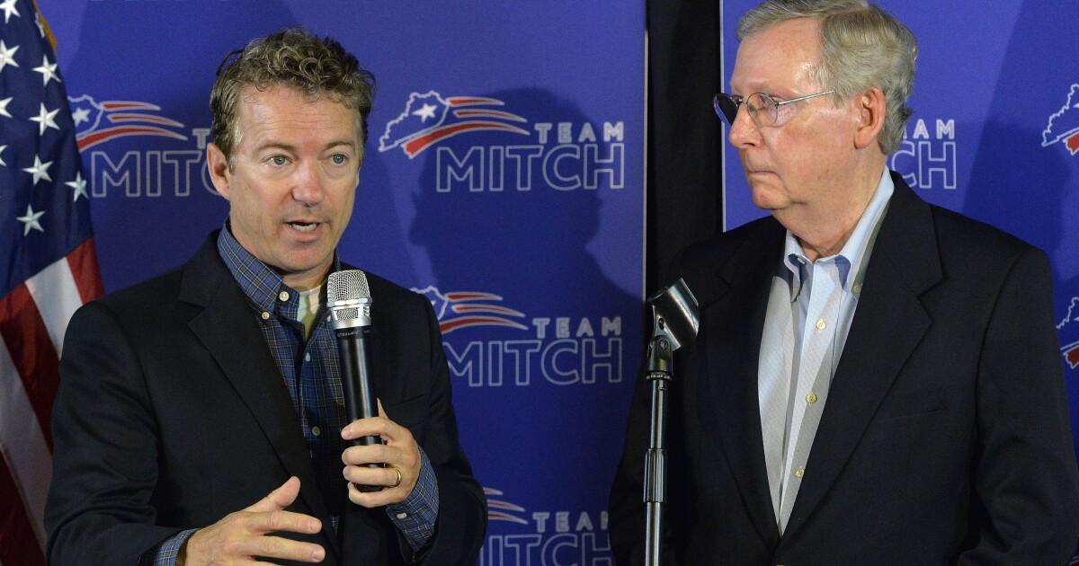 Rand Paul pressures McConnell to bring criminal justice reform legislation to a vote