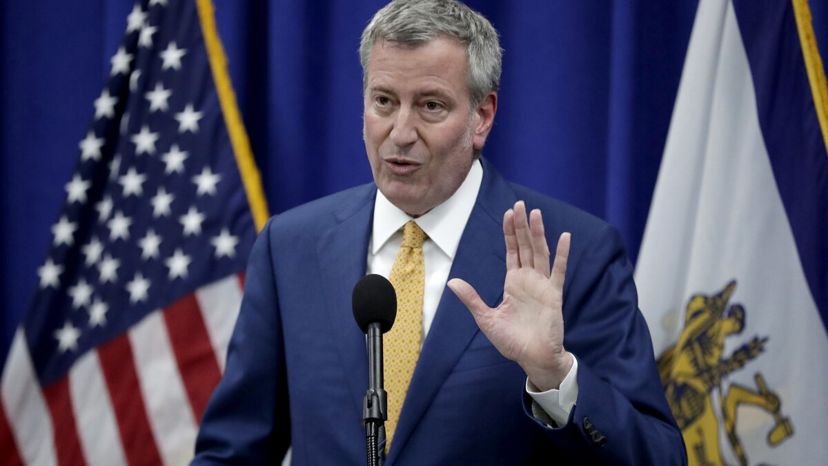 'Painfully real': De Blasio warns 22K New York City public employees could be laid off by fall