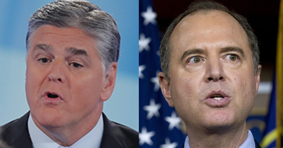 Sean Hannity says he has 'dossier' on Adam Schiff colluding with Russia