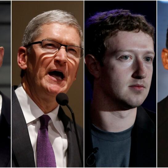 Bezos/Cook/Zuckerberg/Pichai