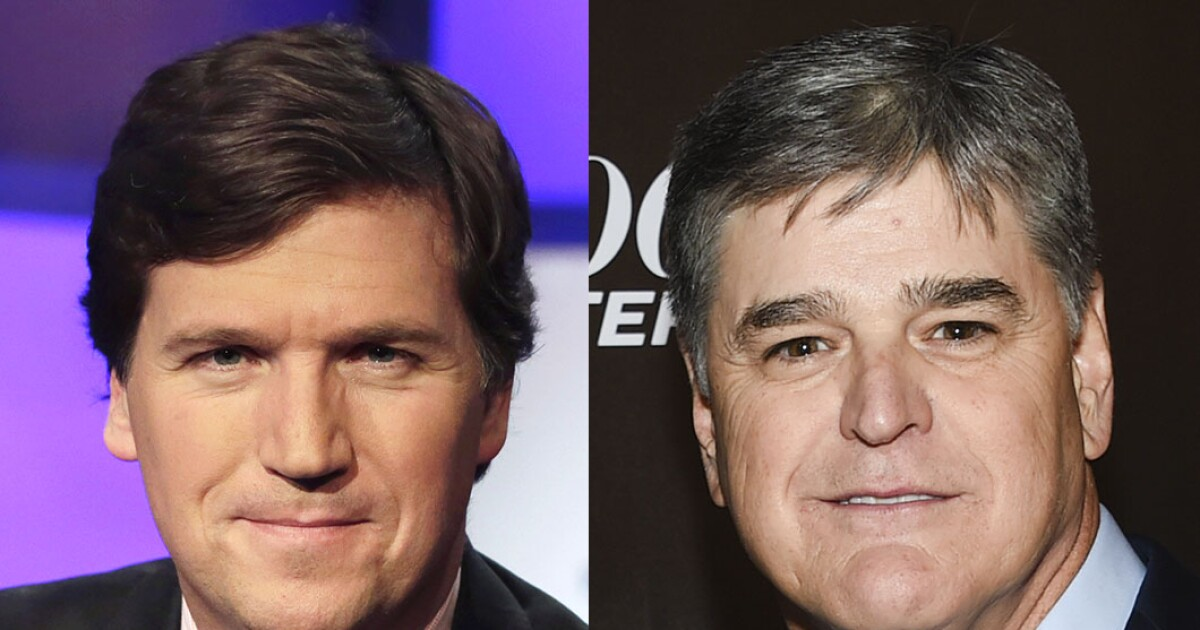 Carlson and Hannity ratings continue to dominate in...
