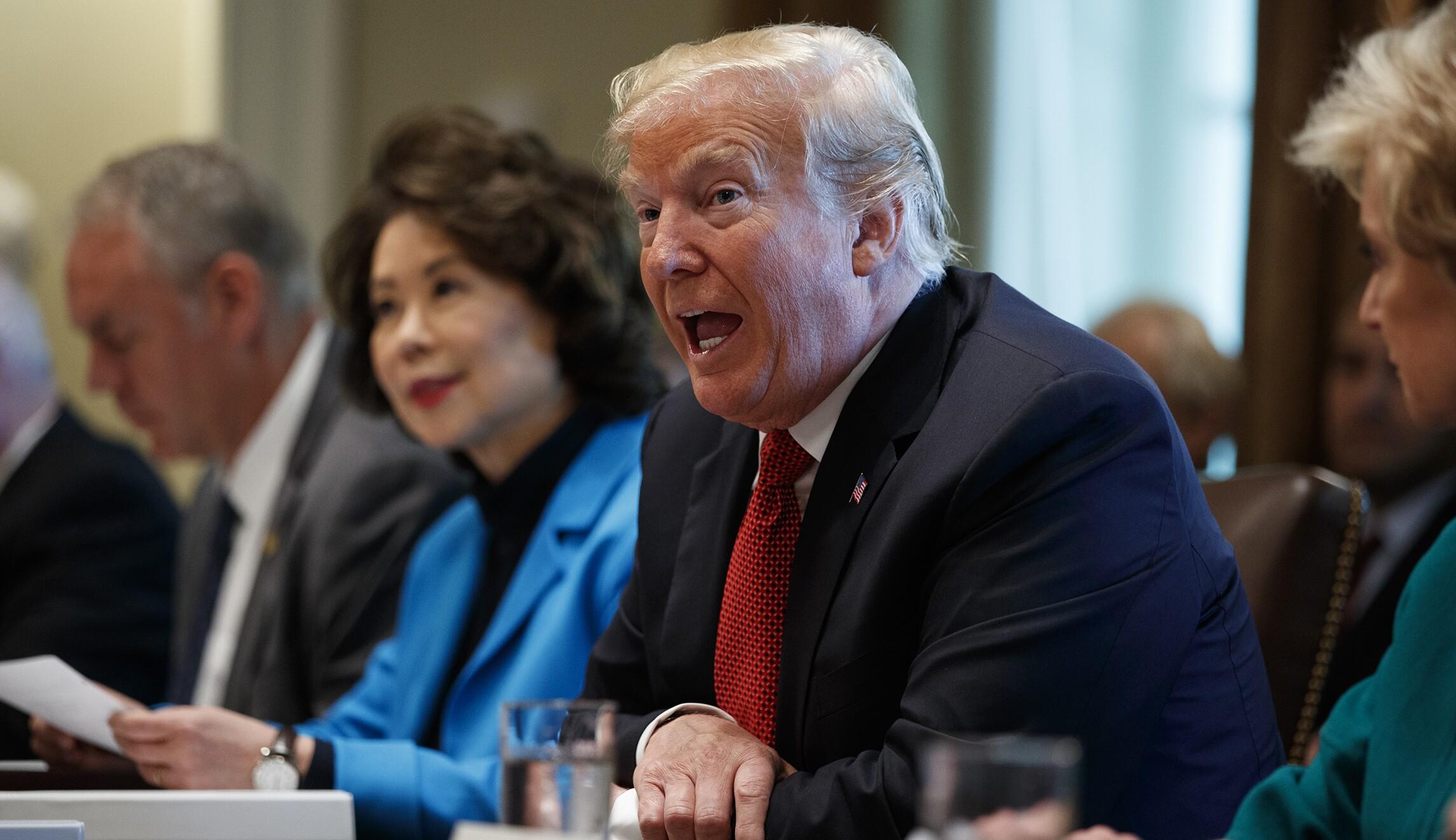 Donald Trump,Ryan Zinke,Elaine Chao,Linda McMahon